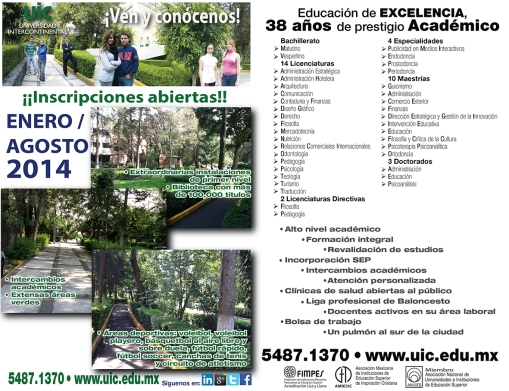 OFERTA EDUCATIVA UIC